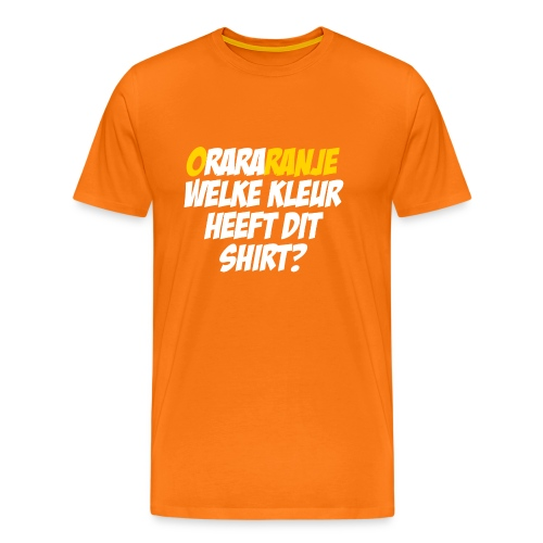Rara, welke kleur heeft dit shirt?  - Mannen Premium T-shirt