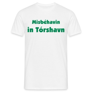Misbehavin in white - Men's T-Shirt