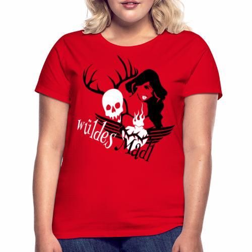 Frauen T-Shirt - Gaudishirt, hirsch t-shirt, lausmadl, oktoberfest t-shirt, tracht t-shirt, wild t-shirt, edelwild, lederhose, dirndl, österreich t-shirt