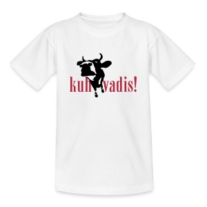 Kuh T-Shirt kuh-vadis-kids! - Teenager T-Shirt