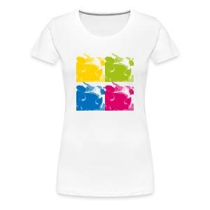 4kühe-girlieshirt! - Frauen Premium T-Shirt