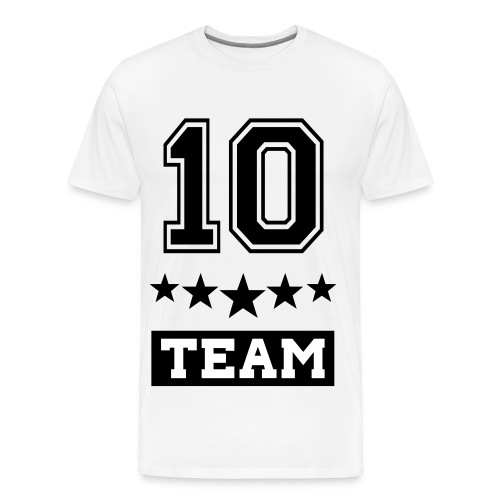 Team10 White Shirt - T-shirt Premium Homme