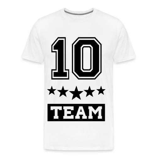 Team10 White Shirt - T-shirt Premium Homme