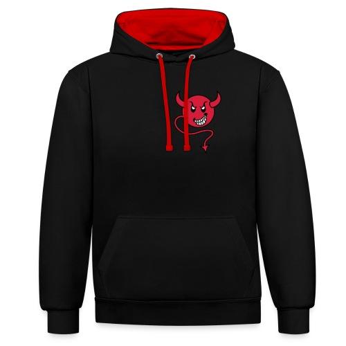 red devil in sports - Kontrast-Hoodie