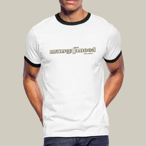 Männer Kontrast-T-Shirt mit Glitzer-Logo - Männer Kontrast-T-Shirt