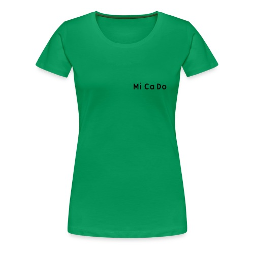 T-Shirt (w.) grün, Schrift schwarz - Frauen Premium T-Shirt