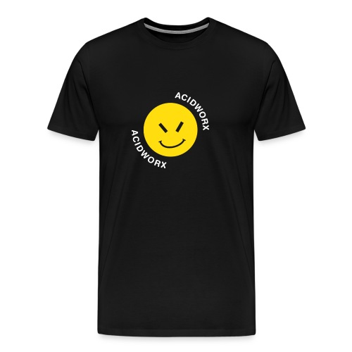 Acid Worx Curved Text Design - Men's Premium T-Shirt