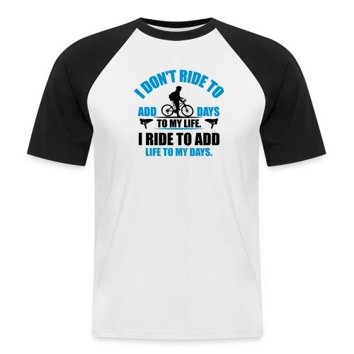 RIde happy - Kortærmet herre-baseballshirt