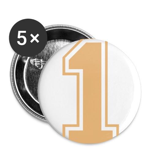 Nummer 1 - Buttons groß 56 mm