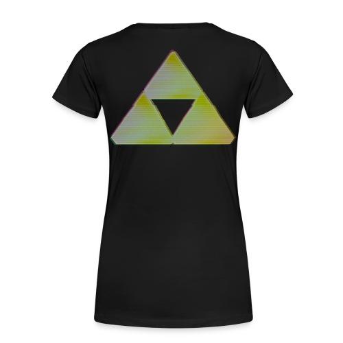 Triforce Shirt - Vrouw - Vrouwen Premium T-shirt