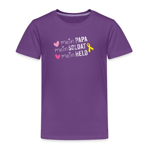 Mein Papa, mein Soldat mein Held - Kinder Premium T-Shirt