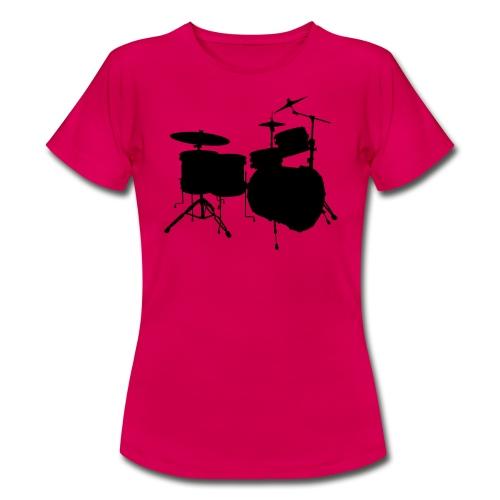 Drumset Kontur Shirt (Damen) - Frauen T-Shirt