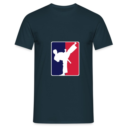 Men T-shirt Kicklogo navy/red/blue - Männer T-Shirt