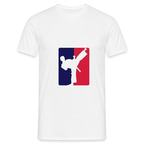 Men T-shirt Kicklogo white/red/blue - Männer T-Shirt