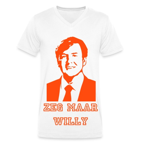 Kingsday T-shirt: Zeg maar willy! - Mannen bio T-shirt met V-hals van Stanley & Stella