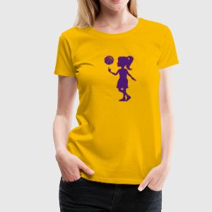 Basketball Girl Shirt - Frauen Premium T-Shirt