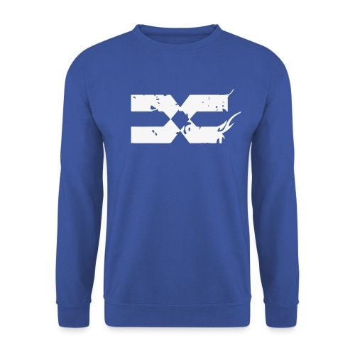 CREWNECKS - White on Blue - Sweat-shirt Homme