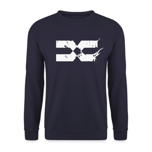 CREWNECKS - White on Navy - Sweat-shirt Homme