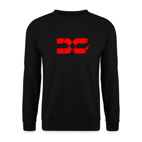 CREWNECKS - Red on Black - Sweat-shirt Homme
