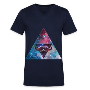 galaxy mustash - Mannen bio T-shirt met V-hals van Stanley & Stella