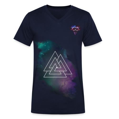 galaxy triangles - Mannen bio T-shirt met V-hals van Stanley & Stella