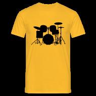 T-Shirts ~ Männer T-Shirt ~ Drumset 1 Kontur Shirt (Herren)