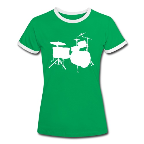 Drumset 2 Kontur Kontrast-Shirt (Damen) - Frauen Kontrast-T-Shirt