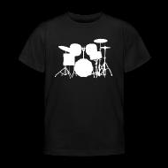 T-Shirts ~ Kinder T-Shirt ~ Drumset 1 Kindershirt (weiß)