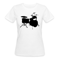 T-Shirts ~ Frauen Bio-T-Shirt ~ Drumset 2 Kontur Bio-Shirt (Damen)