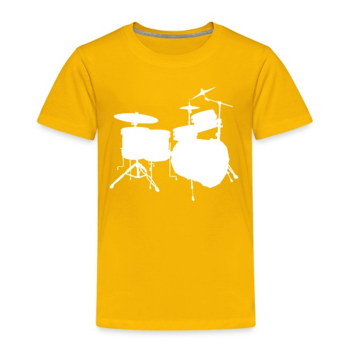 Drumset 2 Kindershirt (weiß) - Kinder Premium T-Shirt