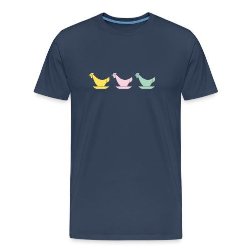 DDR Chicken Egg Cups - Men's Premium T-Shirt - Men's Premium T-Shirt