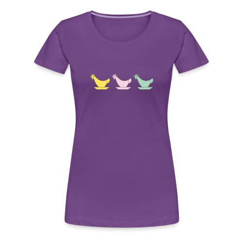 DDR Chicken Egg Cups - Woman's Premium T-Shirt - Women's Premium T-Shirt