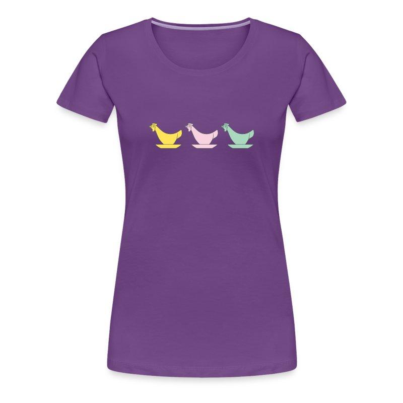 DDR Chicken Egg Cups - Woman's Premium T-Shirt - Women's Premium T-Shirt