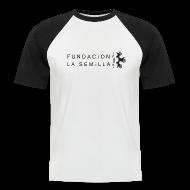 Camisetas ~ Camiseta béisbol manga corta hombre ~ Camiseta La semilla Blanca