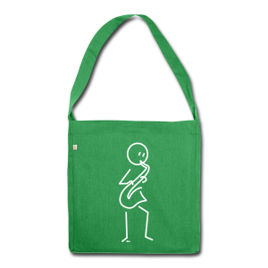 Saxophonist - Shoulder Bag made from recycled material