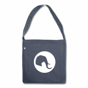 Elefant Logo - Schultertasche aus Recycling-Material
