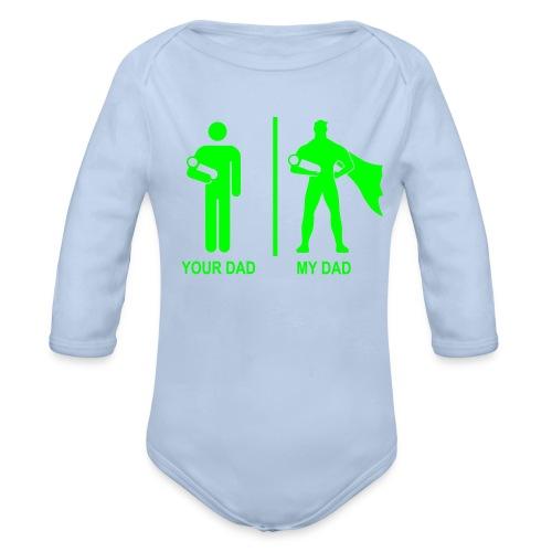 Ekologiczne body niemowlęce z długim rękawem - body niemowlęce z długim rękawkiem