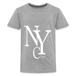 New York City blanc2 Shirts - Teenage Premium T-Shirt