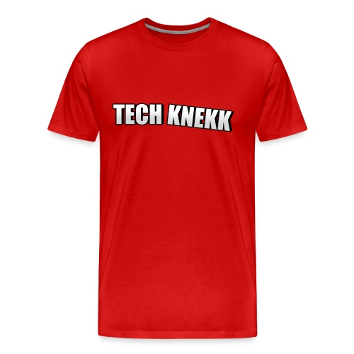 Enkel Tech Knekk T-shorte for menn - Premium T-skjorte for menn