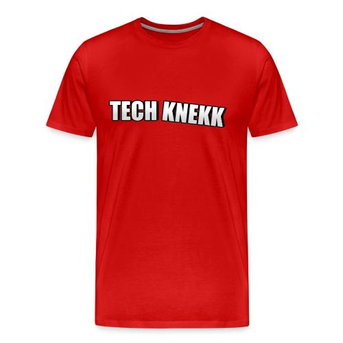 Enkel Tech Knekk T-shorte for menn - Premium T-skjorte for menn