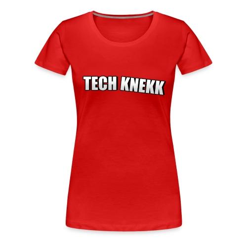 Enkel Tech Knekk T-shorte for kvinner - Premium T-skjorte for kvinner