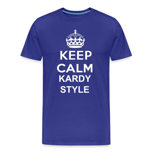 Keep Calm Kardy Style -Blue - Men's Premium T-Shirt