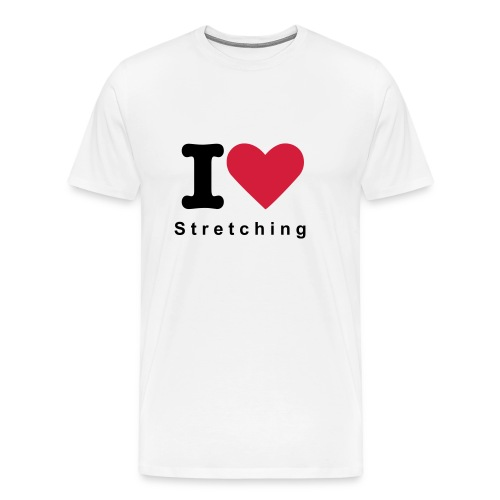 I Love Stretching - T Shirt - White - Men's Premium T-Shirt