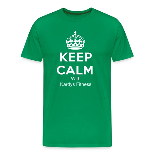 Keep Calm With Kardys Fitness T- Shirt - Men's Premium T-Shirt