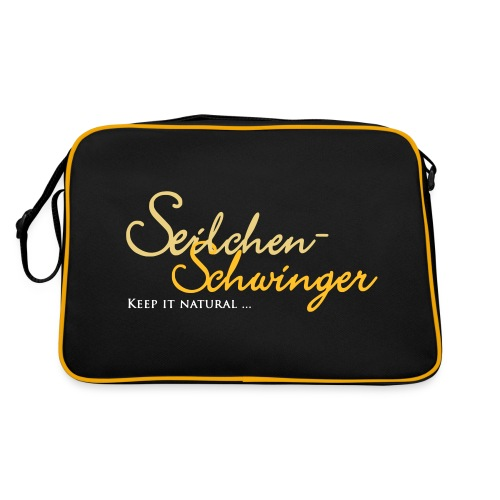 Seilchen-Schwinger Tasche schwarz-gelb - Retro Tasche