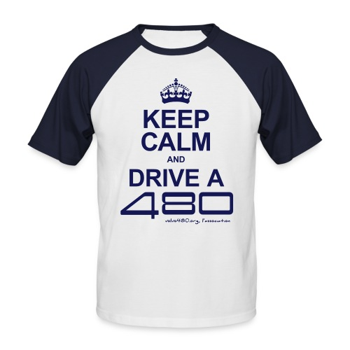 T-shirt rétro homme - Keep calm - T-shirt baseball manches courtes Homme