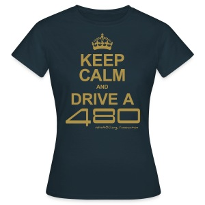 T-shirt femme doré brillant - Keep calm - T-shirt Femme