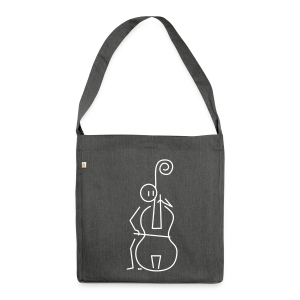 Double bassist - Shoulder Bag made from recycled material