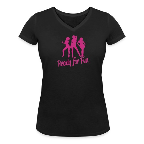 Ready for fun - T-shirt ecologica da donna con scollo a V di Stanley & Stella