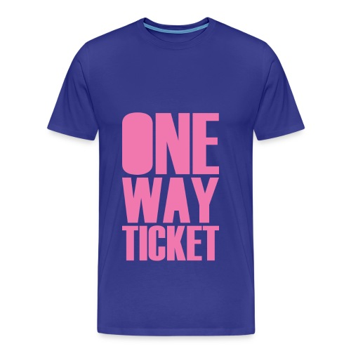 One Way (Front/Back Print) - Men's Premium T-Shirt